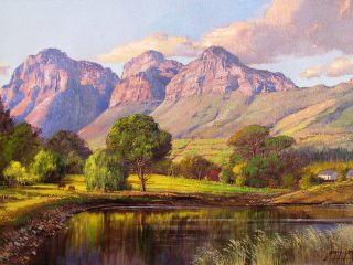 Country Life near Paarl - W76cm X H51cm R13,500