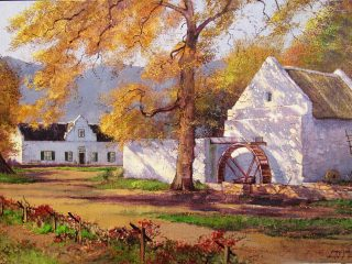 Old Water Mill, Franschoek - W76cm X H51cm R13,500