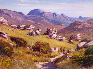 Hiking Trail above Muizenberg - W61cm X H45cm R7,500