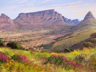 Table Mountain from Signal Hill - W76cm X H51cm R13,500