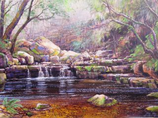 Beautiful source of the Disa River, Hout Bay - W76cm X H51cm R13,500