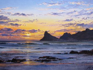 Sunset over Hout Bay - W76cm X H51cm R13,500