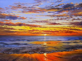 Placid evening, Scarborough - W76cm X H51cm R13,500