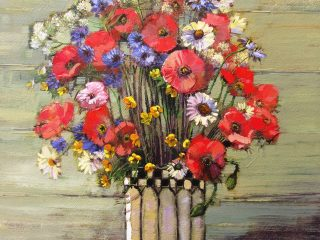 Poppies, Cornflowers and Daisies - W76 X H51cm R13,500