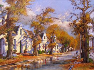 Dorp Street, Stellenbosch - W92cm X H61cm R16,000