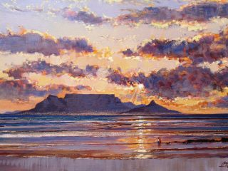 Evening stroll on Blaawberg beach - W92cm X H61cm R16,000
